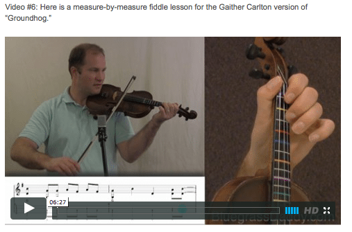 Groundhog - Online Fiddle Lessons. Celtic, Bluegrass, Old-Time, Gospel, and Country Fiddle.