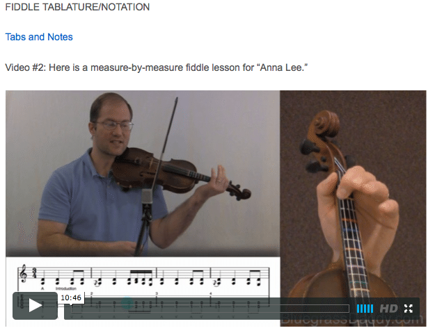 Anna Lee - Online Fiddle Lessons. Celtic, Bluegrass, Old-Time, Gospel, and Country Fiddle.
