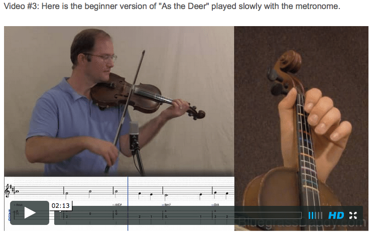 As the Deer - Online Fiddle Lessons. Celtic, Bluegrass, Old-Time, Gospel, and Country Fiddle.