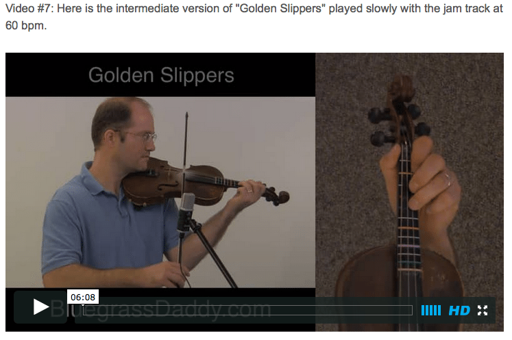 Golden Slippers - Online Fiddle Lessons. Celtic, Bluegrass, Old-Time, Gospel, and Country Fiddle.