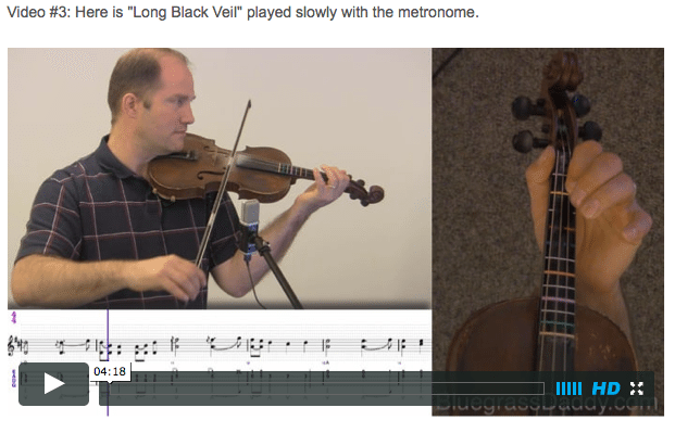 Long Black Veil - Online Fiddle Lessons. Celtic, Bluegrass, Old-Time, Gospel, and Country Fiddle.