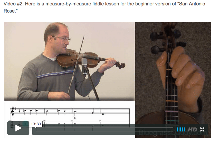 San Antonio Rose - Online Fiddle Lessons. Celtic, Bluegrass, Old-Time, Gospel, and Country Fiddle.en Shot 2015-11-29 at 12.29.19 AM