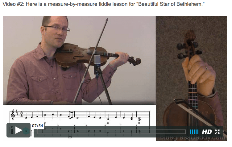 Beautiful Star of Bethlehem - Online Fiddle Lessons. Celtic, Bluegrass, Old-Time, Gospel, and Country Fiddle.