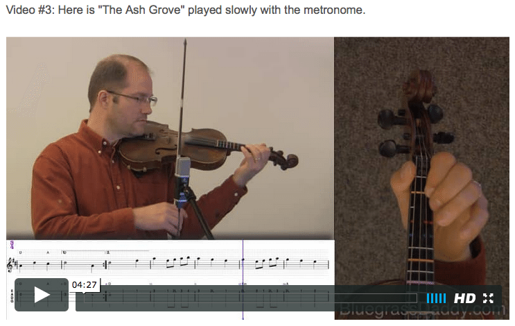 The Ash Grove - Online Fiddle Lessons. Celtic, Bluegrass, Old-Time, Gospel, and Country Fiddle.