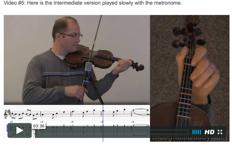 Joy to the World - Online Fiddle Lessons. Celtic, Bluegrass, Old-Time, Gospel, and Country Fiddle.