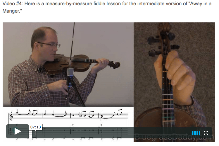 Away in the Manger - Online Fiddle Lessons. Celtic, Bluegrass, Old-Time, Gospel, and Country Fiddle.