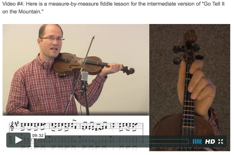 Go Tell It on the Mountain - Online Fiddle Lessons. Celtic, Bluegrass, Old-Time, Gospel, and Country Fiddle.