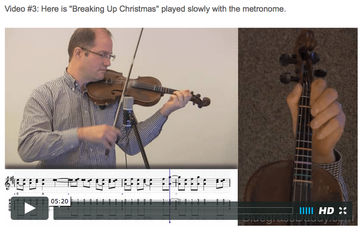 Breakin' Up Christmas - Online Fiddle Lessons. Celtic, Bluegrass, Old-Time, Gospel, and Country Fiddle.