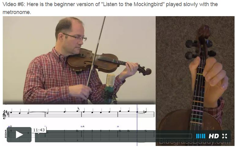 Listen to the Mockingbird - Online Fiddle Lessons. Celtic, Bluegrass, Old-Time, Gospel, and Country Fiddle.