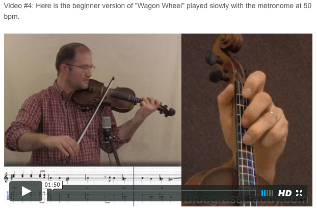 Wagon Wheel - Online Fiddle Lessons. Celtic, Bluegrass, Old-Time, Gospel, and Country Fiddle.