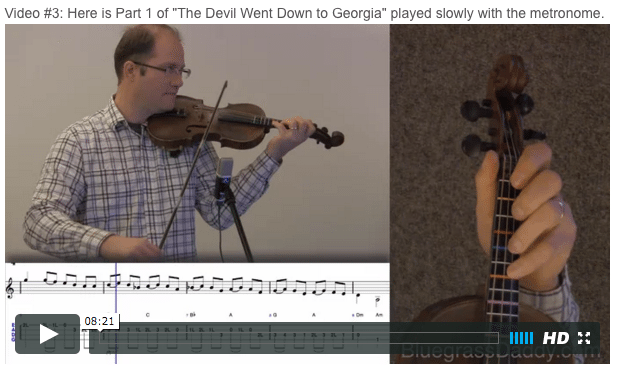 The Devil Went Down to Georgia - Online Fiddle Lessons. Celtic, Bluegrass, Old-Time, Gospel, and Country Fiddle.