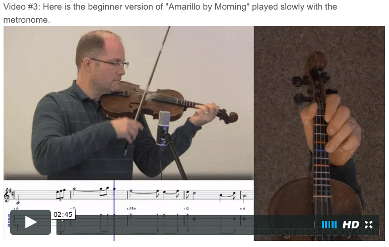 Amarillo by Morning - Online Fiddle Lessons. Celtic, Bluegrass, Old-Time, Gospel, and Country Fiddle.