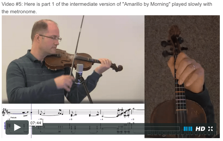 Amarillo by Morning- Online Fiddle Lessons. Celtic, Bluegrass, Old-Time, Gospel, and Country Fiddle.