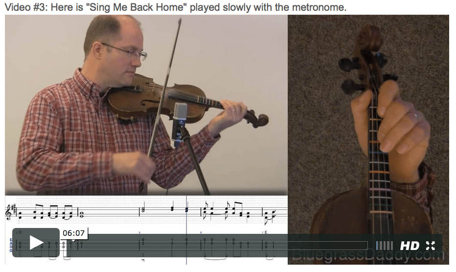 Sing Me Back Home - Online Fiddle Lessons. Celtic, Bluegrass, Old-Time, Gospel, and Country Fiddle.