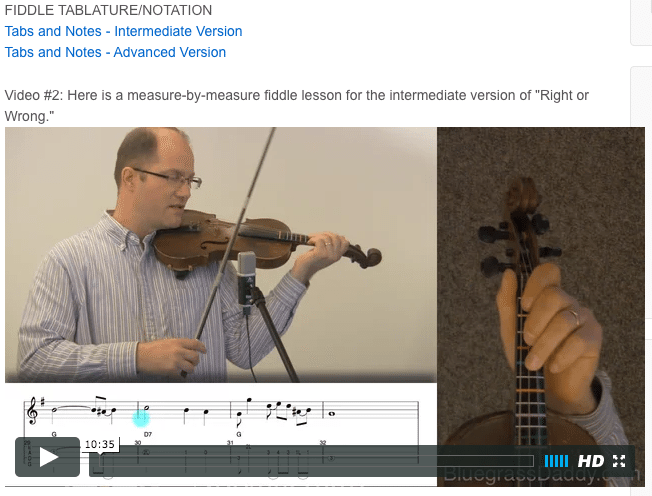 Right or Wrong - Online Fiddle Lessons. Celtic, Bluegrass, Old-Time, Gospel, and Country Fiddle.