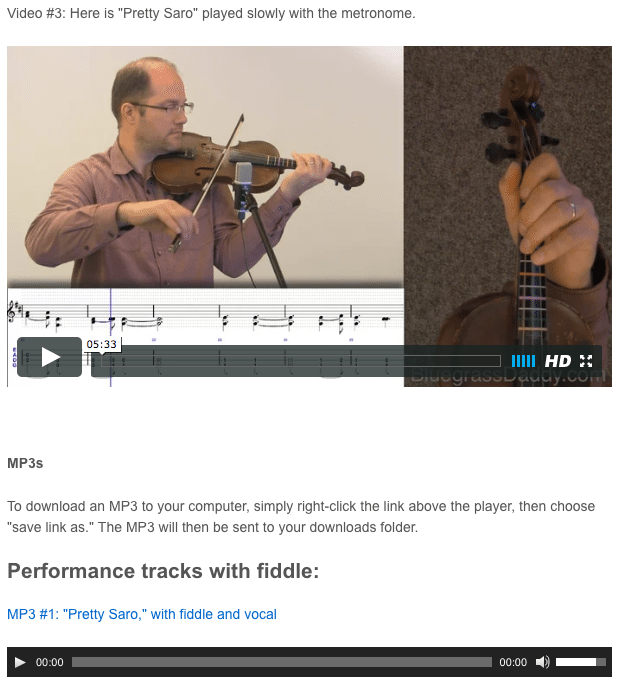 Pretty Saro - Online Fiddle Lessons. Celtic, Bluegrass, Old-Time, Gospel, and Country Fiddle.