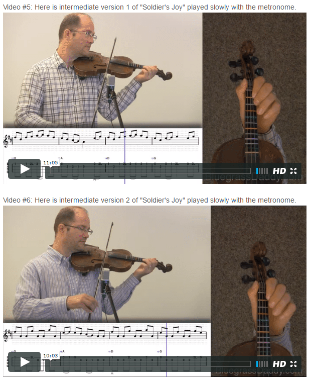 Soldier's Joy - Online Fiddle Lessons