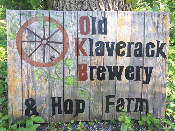 Old Klaverack Brewery sign