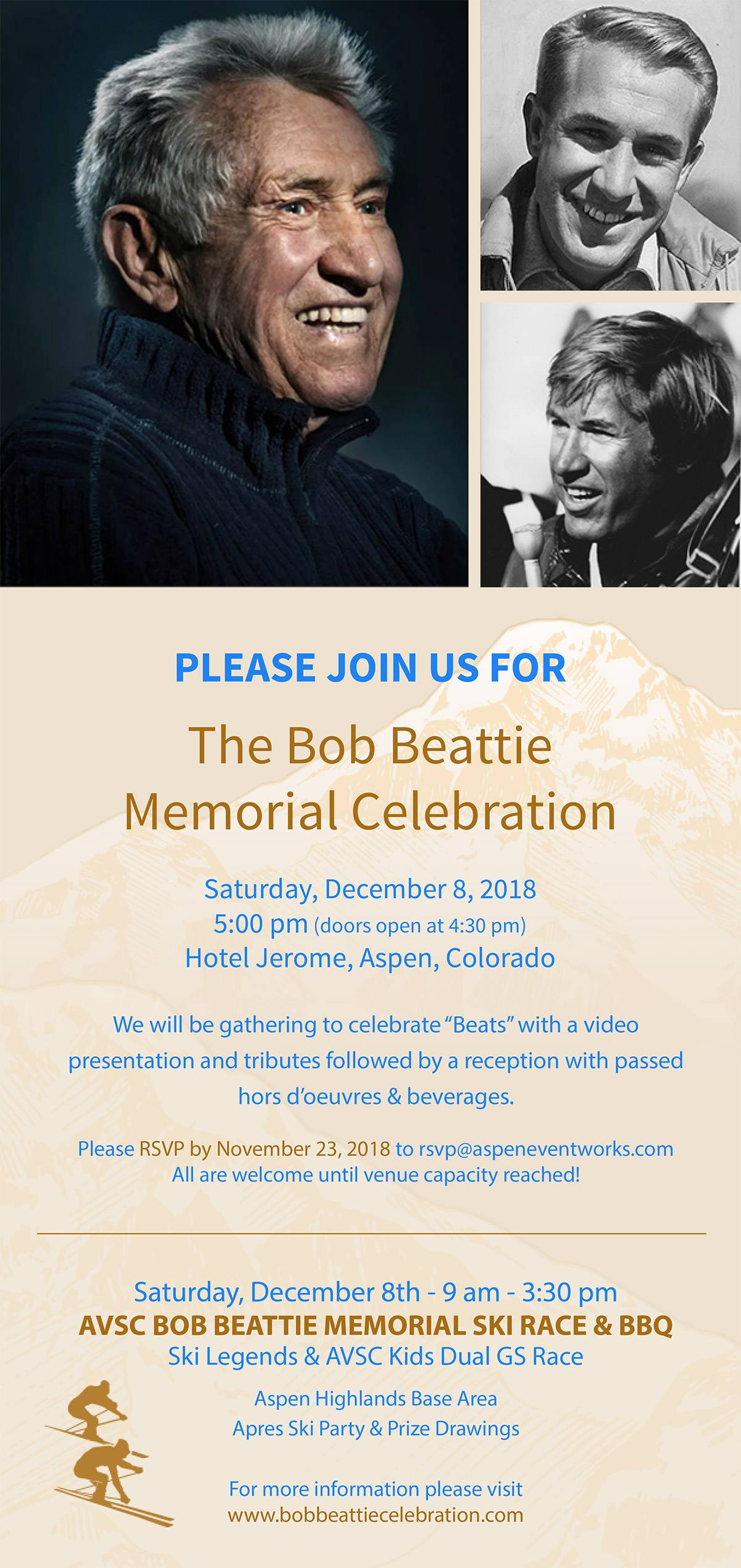 Bob Beattie Day Invite
