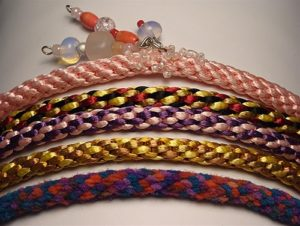 Make a Kumihimo bracelet in classes at The Twisted Bead & Rock Shop.