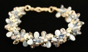 Make a Kumihimo 7-warp bead bracelet in classes at The Twisted Bead & Rock Shop.
