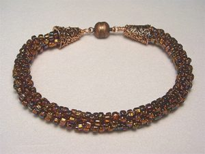 Make a Kumihimo with beads bracelet in classes at The Twisted Bead & Rock Shop.
