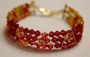 This Swarovski crystal bracelet can be made in classes at The Twisted Bead & Rock Shop.