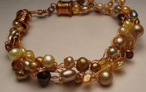 Make this wire crochet bracelet in classes at The Twisted Bead & Rock Shop
