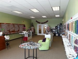 Store floor for The Twisted Bead & Rock Shop.