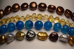Along with other repairs, The Twisted Bead & Rock Shop offers pearl knotting.