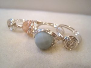 Make these wire-wrapped rings in classes at The Twisted Bead & Rock Shop