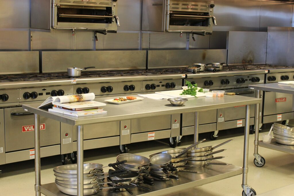 Shared kitchens are great for people starting a food business.