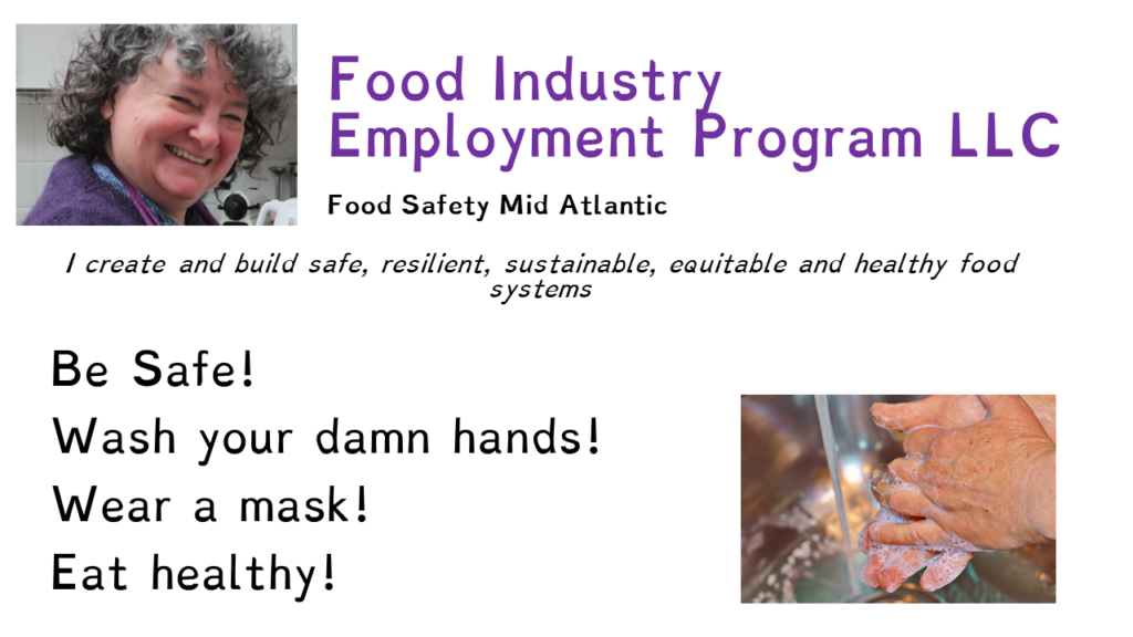 "Image says ""Be Safe, Wash your damn hands, wear a mask, eat healthy"""