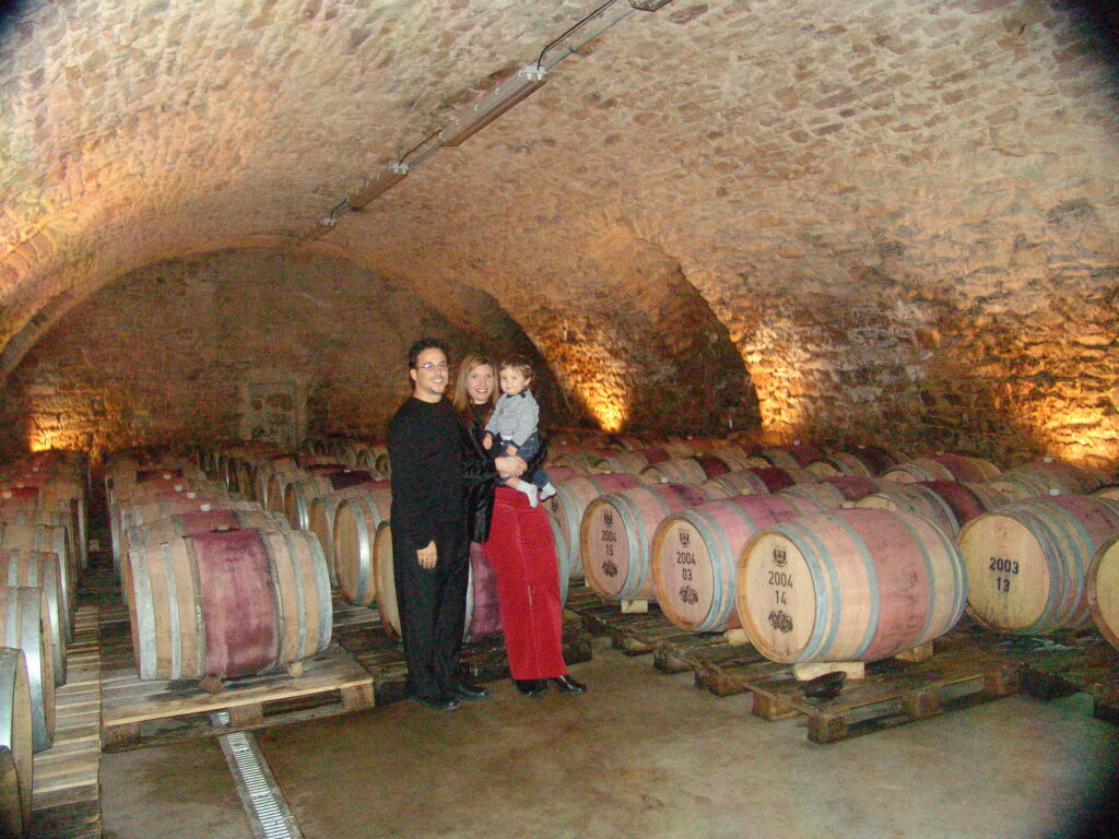 baby in wine caves
