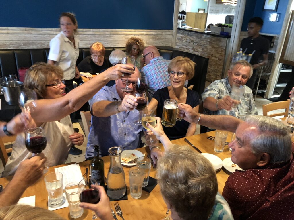 wines toasting in hobe sound at the grove