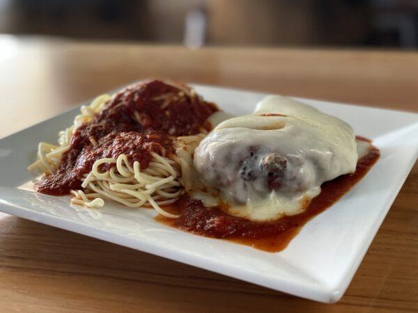 chicken veal or eggplant parmesan