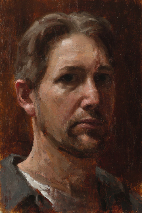 self-portrait with scar, 10 x 8
