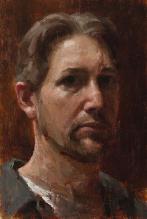 self-portrait with scar, 10 x 8