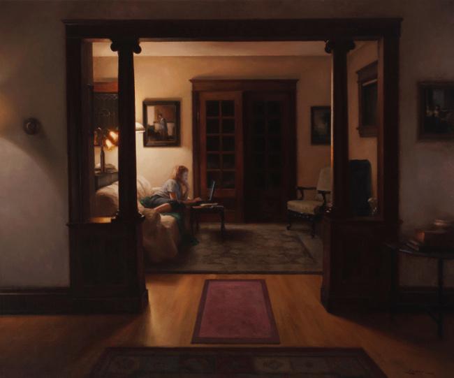 Interior,_Midnight_25x30, 2012