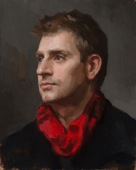 Man with Red Scarf