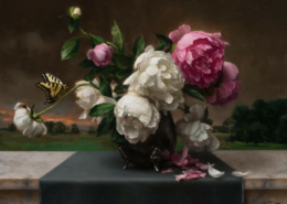Peonies and Butterfly