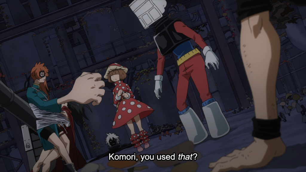 Kinoko Komori being asked about using her special attack