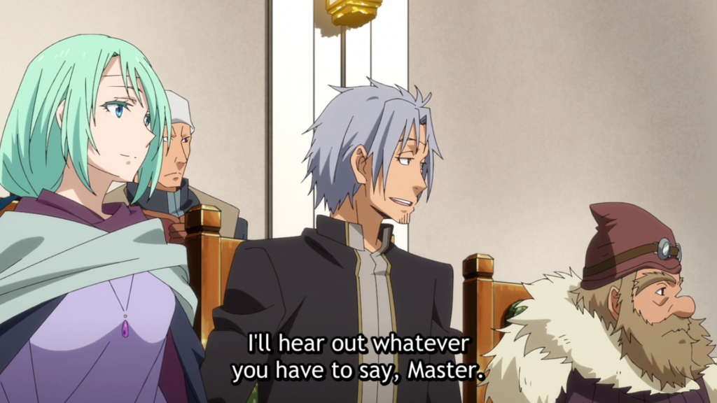 That Time I Got Reincarnated as a Slime Episode 37 - Youm speaking to Rimuru during the meeting