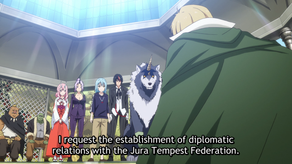 That Time I Got Reinarnated as a Slime Episode 39 - Elalude extending an offer for diplomatic relations