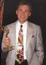 R.J. Heim - winning the 1st of two Emmy Awards f