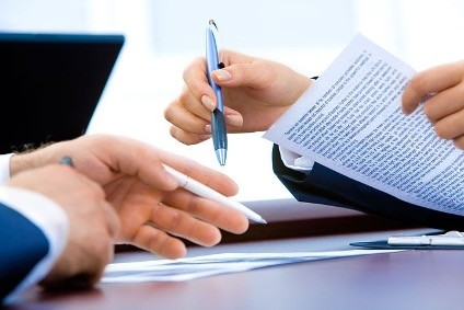 Agree to terms upfront and then authorize the document(s).