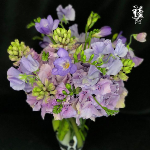 Hyacinth and Sweet Pea Floral Arrangement
