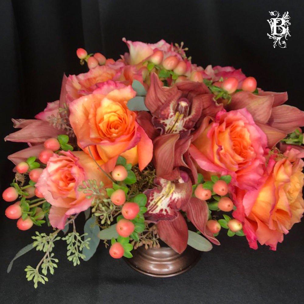 Pink and Peach Flower Arrangements