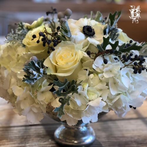 Frosted Flower Centerpiece