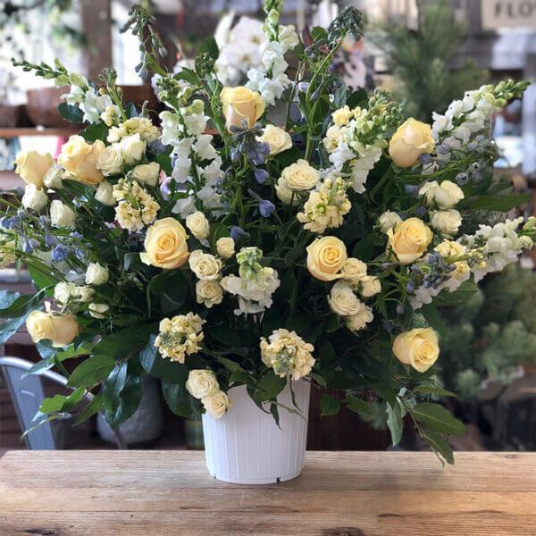 Yellow Roses Centerpiece